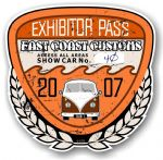 Aged Vintage 2007 Dated Car Show Exhibitor Pass Design Vinyl Car sticker decal  89x87mm
